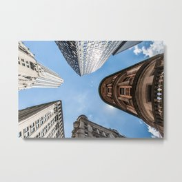 Looking up at Delmonico's  Metal Print
