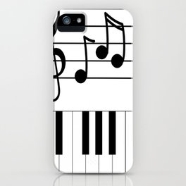 Music Notes with Piano Keyboard iPhone Case