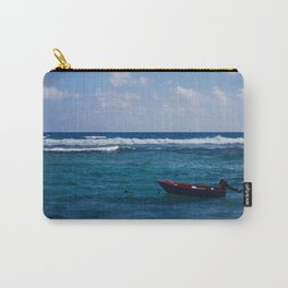 Fishboat in desert lagoon Carry-All Pouch