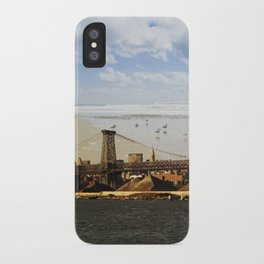 A HELICOPTER IN HER SKY, A SEAGULL ON HIS BRIDGE iPhone Case