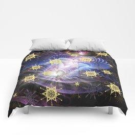 Fractal Enegy Bursts Comforters