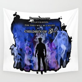 Police Tribute Wall Tapestry