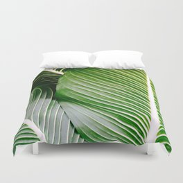 Big Leaves - Tropical Nature Photography Duvet Cover