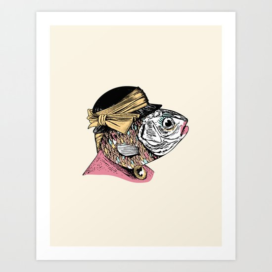 Mrs. Fish Art Print