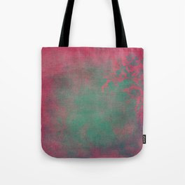 Grunge Garden Canvas Texture:  Pink and Teal Floral Tote Bag