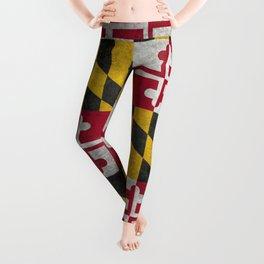 Maryland State flag - Vintage retro style Leggings