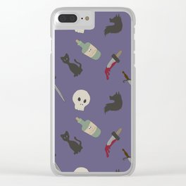 Stabby stab Clear iPhone Case