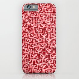 Holly Berry Red Waves iPhone Case