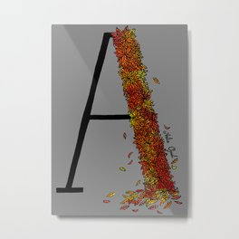 A for Autumn Metal Print