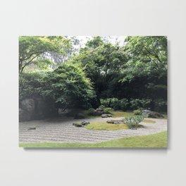 Zen Garden at the Japanese Tea Garden in San Francisco Metal Print