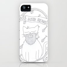 cats with beards iPhone (5, 5s) Slim Case