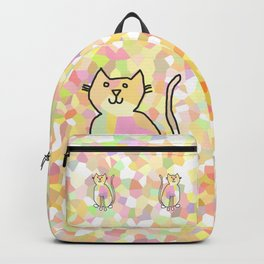 Crystal Cat - Soft Yellow Backpack