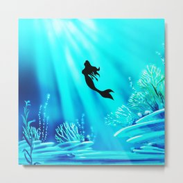 Light Of Mermaid Metal Print
