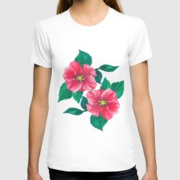 Two Pink Hibiscus T-shirt