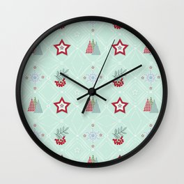 Christmas pattern.2 Wall Clock
