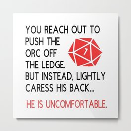 Dungeons and dragons gift Metal Print
