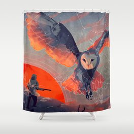Owl Hunt Shower Curtain
