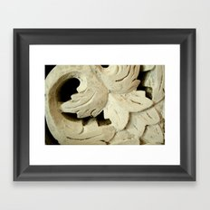Carved Wood Framed Art Print