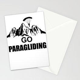 Paragliding sport Stationery Cards