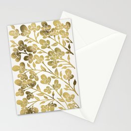 Cherry Blossoms – Gold Palette Stationery Cards