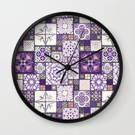 Moroccan Tile Pattern III Wall Clock
