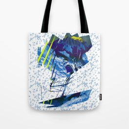 Climbing in the french Alps, alpinists Tote Bag