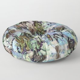 Abstract Confetti Landscape Floor Pillow