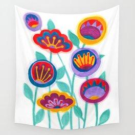 raw flower garden Wall Tapestry