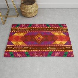 Native American Warm Pattern Design Rug