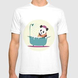 panda washes T-shirt