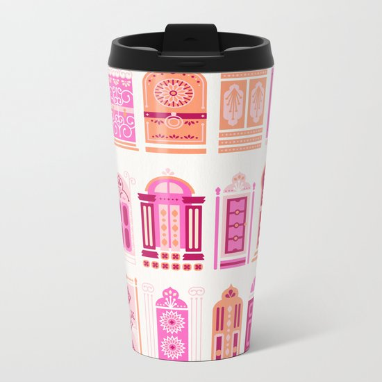 Moroccan Doors – Peach Palette Metal Travel Mug