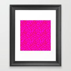 Hot Pink Cheese Doodles /// www.pencilmeinstationery.com Framed Art Print