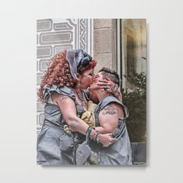 Annie and Beth's Silver Wedding 2 Metal Print