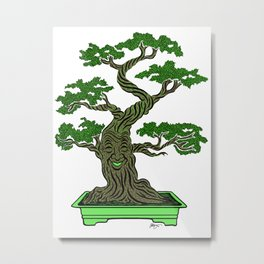 Mr. Bonsai Metal Print