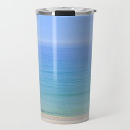 Turquoise Sea View, Porthmeor Beach St Ives Cornwall - Landscape and Nature Photography Travel Mug