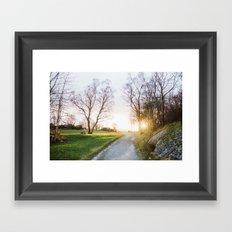 Sunset Noray Framed Art Print