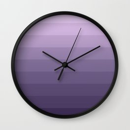Pink purple striped pattern . Wall Clock