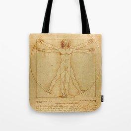 Vitruvian Man - Leonardo da Vinci Tote Bag