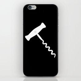 Corkscrew Over Black iPhone Skin