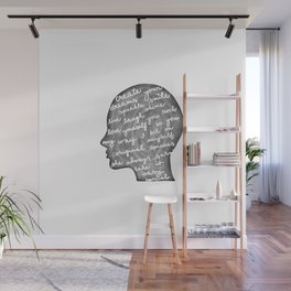 Positive words in my head Wall Mural
