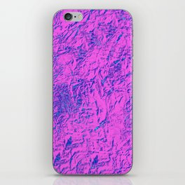 Textured Pink And Blue iPhone Skin
