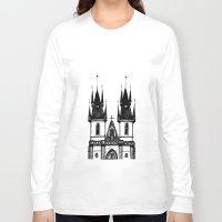 prague Long Sleeve T-shirts featuring Tyn Church - Prague by Nicole Cioffe