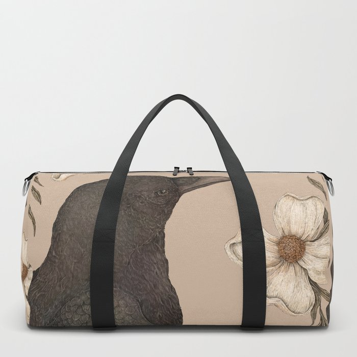 The Crow and Dogwoods Duffle Bag