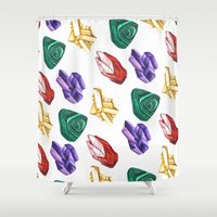 minerals Shower Curtains featuring Minerals by kristinesarleyart