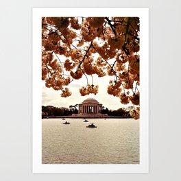 Washington Monument in Bloom Art Print