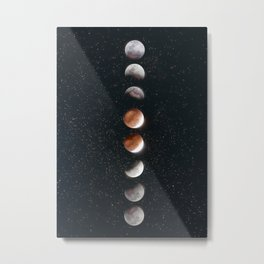 Phases of the Moon II Metal Print