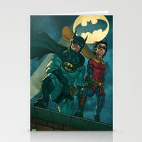 justice league Stationery Cards featuring bat man the watch men justice league man of steel by Brian Hollins art