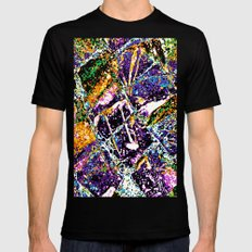 Abstraction #6 MEDIUM Black Mens Fitted Tee