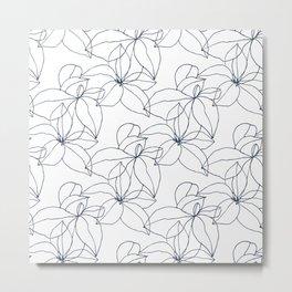 Floral Drawing, Overlap Metal Print
