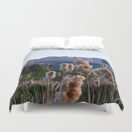 Birdsong on the Marina Duvet Cover